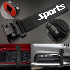 Black Universal Car Racing Sports Tow Hook Strap Front Rear Bumper Decoration