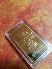 LINGOTTO 1 oncia Oro 99,99% placcato d'oro  credit suisse