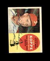 Joe Koppe Hand Signed 1960 Topps Philadelphia Phillies Autograph