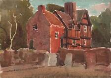 GEORGE GRAINGER SMITH Watercolour Painting CROSSWAY GREEN WORCESTERSHIRE c1930