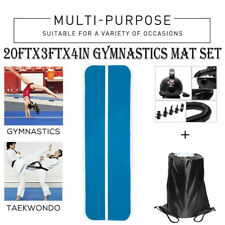 20Ft Air Track Inflatable Floor Home Gymnastics Tumbling Mat Set Yoga Fitness Us