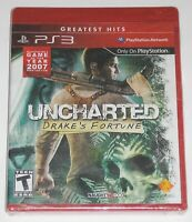Sony PlayStation 3 Video Game - Uncharted: Drake's Fortune (New) Greatest Hits