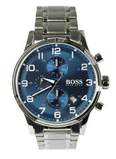 """BOSS – HUGO BOSS Herren Armbanduhr Uhr watch Chrono """"Aeroliner""""1513183 Edelstahl"""