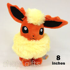"Pokemon Flareon #136 Plush Soft Toy Character Stuffed Animal Teddy Doll 8"" TOMY"