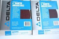 "DELTA 31-469 6"" 150 60 Grit SANDING DISCS abrasive fine coarse circular round"