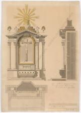 "Josef English (Vienna architerct) ""Neoclassical Project"", Watercolor, ca.1820"