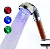 Ionic Bubbles Clear Shower 3 Color LED Temperature Control Mineral Filter Handle