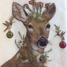 paper napkins decoupage x 2 Christmas Princess 25cm