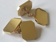 """extra heavy 18ct hallmarked cuff links""""40 grams weight"""" classic shape, 2mm thick"""