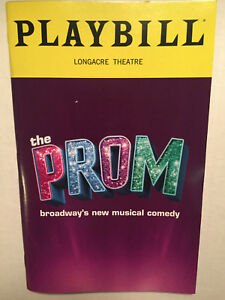 THE PROM PLAYBILL BOOK BROADWAY THEATRE NEW YORK JANUARY 2019