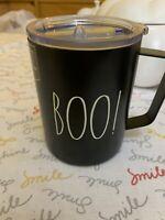Rae Dunn BOO! Black w White LL Insulated Stainless Steel Mug Fall Halloween