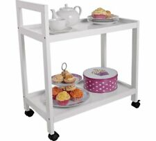 Home Tea Trolley Holding Food Or Plates And Transporting Items From Room White