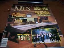 MIX Audio/Music Magazine Nov 2000 N'Sync on Cover
