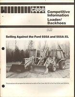 1980s VINTAGE CATALOG #1924 - J. I. CASE LOADER - BACKHOES 555a 555a-XL