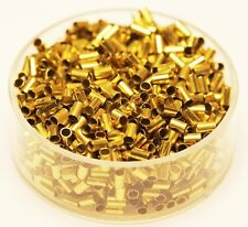 Brass Tube Crimp Beads 2 x 3 mm 500 Pcs.( Hole 1.5 mm ) Raw Solid Brass USA