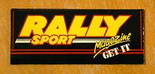 Rally Sport Magazine Get It! Retro Cars Motorsport Sticker