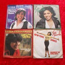 "4 Singles Single 7"" Sammlung LUISA FERNANDEZ - Vinyl Schallplatten"