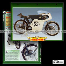 #062.11 Fiche Moto GREEVES 250 SILVERSTONE 1964 Racing Bike Motorcycle Card