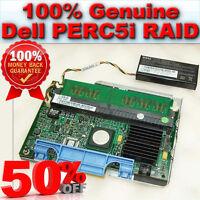 0WX072 Dell PERC5i PCI-E SAS/SATA Raid controller Card +Tray +Battery+256MB RAM