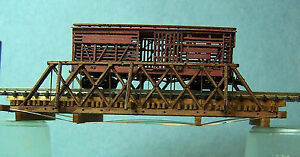 TRUSS BRIDGE Z Scale Model Railroad Structure Unpainted Wood Laser Kit RSL4028