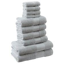 Serviettes, draps et gants de salle de bain coton avec des motifs ...