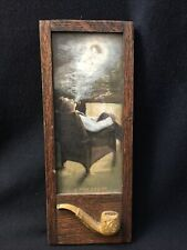 Vintage Framed Picture A Pipe Dream 1900 Embossed Pipe On Frame
