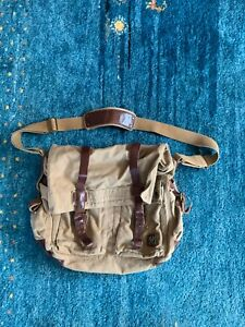 """belstaff 554 colonial Canvas Leather  messenger bag """"sold out"""""""