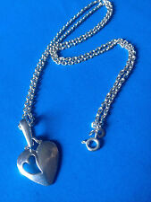 Collier Chaine Pendentif Argent 925 Coeur / Sterling Heart Pendant