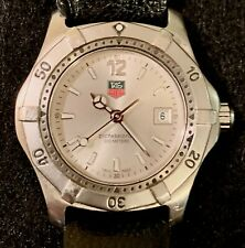 TAG HEUER 2000 SERIES PROFESSIONAL WK1312 SS SILVER DIAL 200M DATE DIVE WATCH