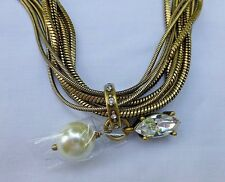 Silpada Dreamy Details Necklace KRN0086 Glass Pearl Swarovski Crystal Brass NEW