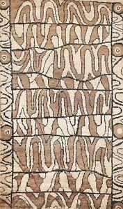 Abstract Modern Oriental Area Rug Handmade Contemporary Home Decor Carpet 6'x9'