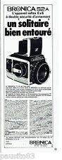 PUBLICITE ADVERTISING 016  1971  BRONICA  appareil photo Reflex S2 A