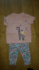 Joules M&S baby girls 3-6 Months pink summer top & leggings outfit BNWT