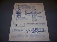 VINTAGE..LATHAM ANTOINETTE & WRIGHT 1909 FLYER..3-VIEWS/SPECS.. (316C)