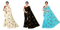 Saree Blouse Indian Bollywood Festival Collection Pakistani Wedding Sari SSC4