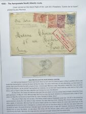 BRAZIL JUNE 1930 SOUTH ATLANTIC AIRMAIL COVER FROM SAO PAULO TO PARIS, FRANCE