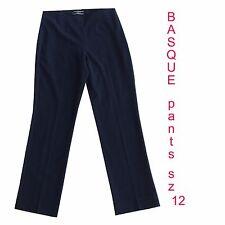 EUC BASQUE sz 12 Black Office Career Pants Trousers   D88