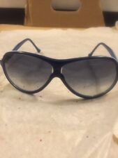 Vintage Polleni Sunglasses Tomasso Hand Made In Italy Royal Blue/ White Frame