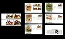 1984 Scott #2098-2101 MAN'S BEST FRIEND Plate Block of 4 + Complete Set of 5 FDC