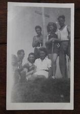 Photo famille Vintage snapshot 1947 Savoie Montagne Croix des sept frères