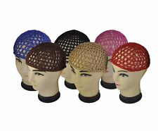 12 Gorgeus Colored Hair Net Snoods -Value Pack
