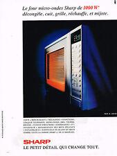 PUBLICITE ADVERTISING 025  1990  SHARP   four à micro-ondes