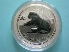 50 Cents Australien 1/2oz Tiger Lunar 2010 Silber