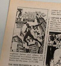 Comic Reader #216 Street Enterprises Early Black Costume Spider-Man Appearance!