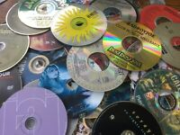 Lot of 100 MISC CDs DVDs Games Discs Only Bulk Wholesale Movie Music Random