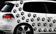 100 Stück in 3x3cm Pfoten Pfote Tatze Aufkleber Wandtatto Cat Dog Katzenpfoten