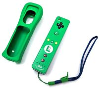 Official Nintendo Wii Remote Luigi Motion Plus Controller Wiimote & Cover Tested