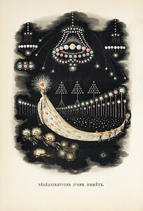 "J. J. Grandville : ""Peregrinations of a Comet"" (1844) — Giclee Fine Art Print"