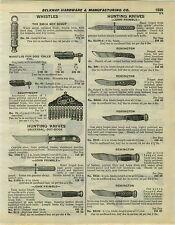 1932 PAPER AD John Primble Marble's Remington Universal Hunting Knife Knives