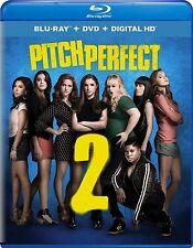Pitch Perfect 2 (Blu-ray/DVD, 2015, 2-Disc Set) NEW